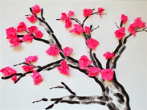 flower crafts with tissue paper tissue paper flowers craft kits images