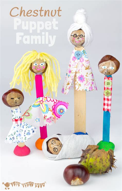 family craft for puppet family chestnut craft buckeye craft craft room