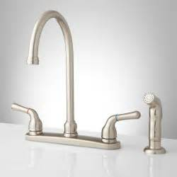 Kitchen Faucet Sprayer sanibel lever handle gooseneck kitchen faucet with spray