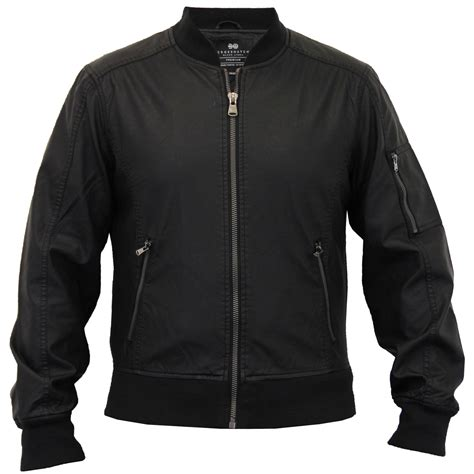 lined leather jacket mens ma1 quilted leather look pu lined biker jacket by crosshatch ebay