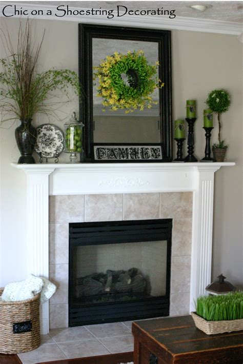 mantlepiece decorations chic on a shoestring decorating some summer decor