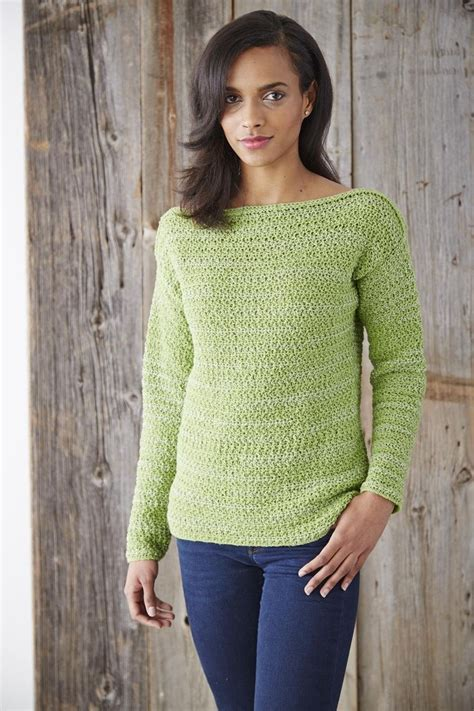 free boat neck sweater knitting pattern yarnspirations patons boat neck pullover free