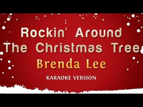 glee rockin around the tree lyrics jingle bell rock karaoke hd in the style of