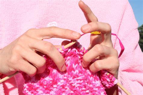 pink knits daily yarn via http commons wikimedia org wiki file