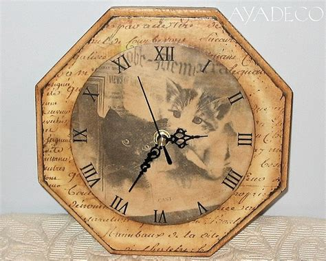 decoupage clock 24 best images about klokken on shabby chic