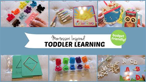 learning crafts for 10 montessori inspired toddler learning activities
