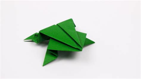 how to make origami frogs origami jumping frog