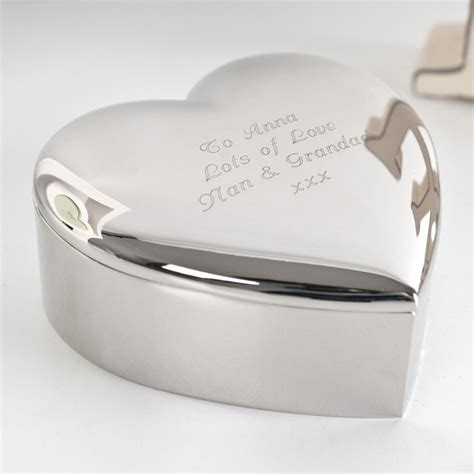 engraved silver plated trinket box gettingpersonal