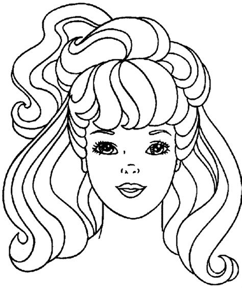 printable pictures of hairstyles barbie hair coloring pages hairstyles haircuts free