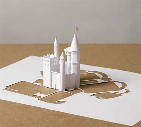 paper craft castle papercraft castle by callesen gearfuse