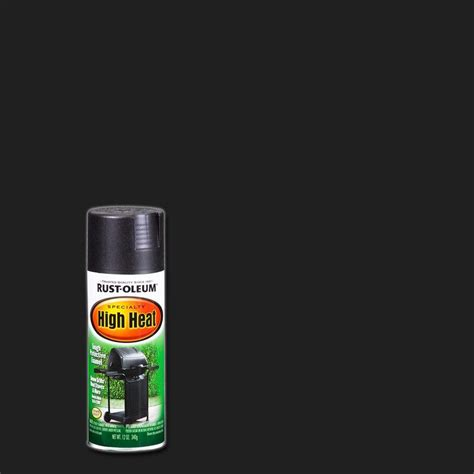 home depot heat resistant paint rust oleum specialty 12 oz bar b que black satin high