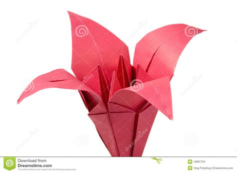 2d origami flower origami flowers stock images image 16887704