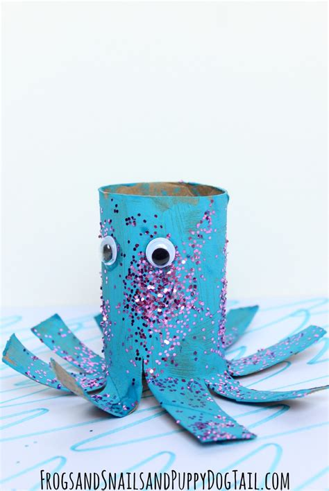 paper octopus craft octopus toilet paper roll craft fspdt