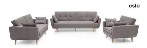 oslo 3 seater sofa bed in charcoal grey fabric furniture123