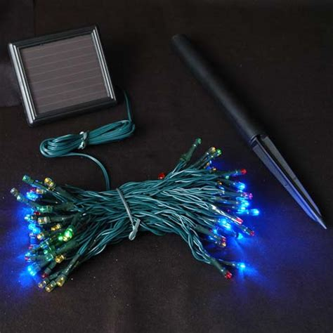 colored led lights multi colored solar lights with 100 bulbs