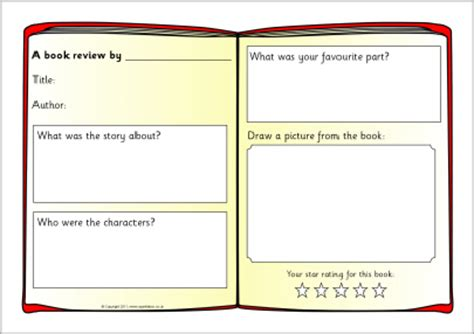 book review pictures book review writing frame templates sb4295 sparklebox