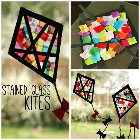 stained glass paper craft colorful stained glass kites window display kites