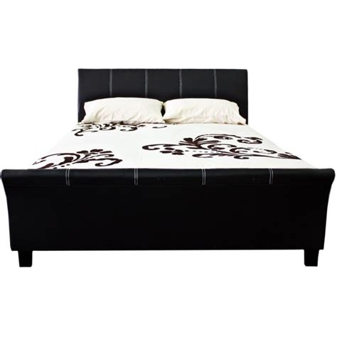 pu leather upholstered size sleigh bed frame buy