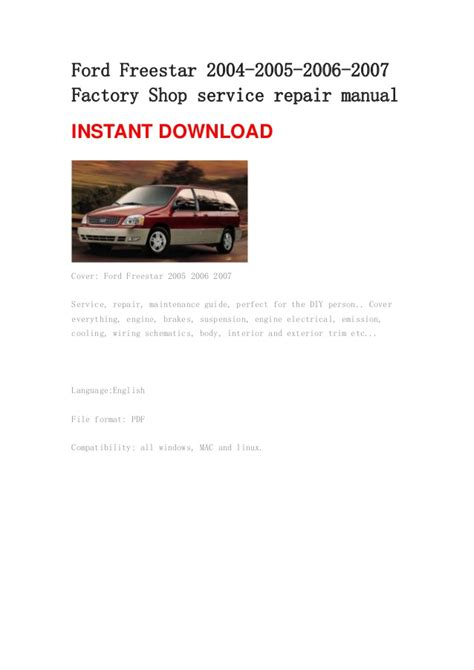 service manuals schematics 2004 ford freestar head up display 2004 ford freestar owners manual online