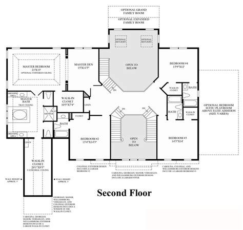 2nd floor plan design shenstone reserve the hton home design