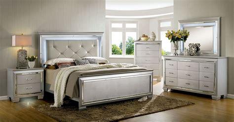 silver bedroom furniture sets bellanova silver upholstered panel bedroom set cm7979sv q