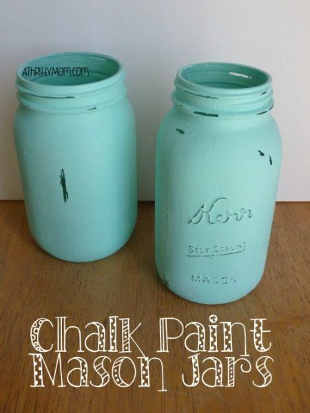 chalk paint on jars chalk paint jars easy craft idea us68