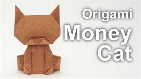 dollar bill origami cat origami money cat v2 jo nakashima