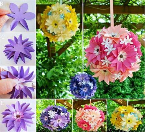 paper hanging crafts diy hanging paper flowers diy craft crafts easy crafts diy