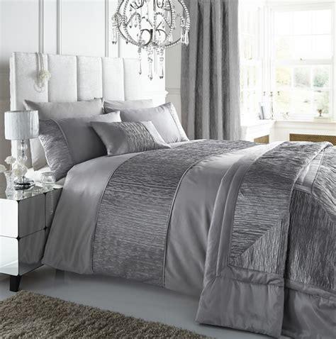 silver bedding set silver colour stylish textured faux silk duvet cover