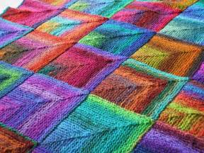 knit quilt patterns mitred squares knitted blanket ruth flickr