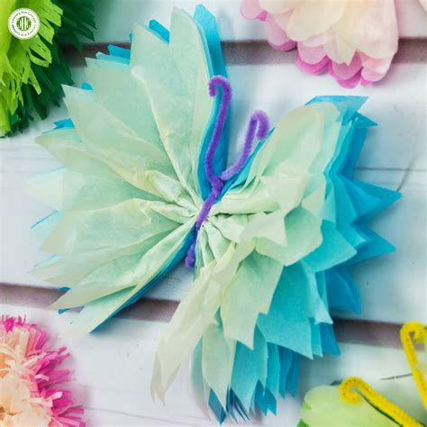 craft from tissue paper tissue paper butterflies paper craft diy country
