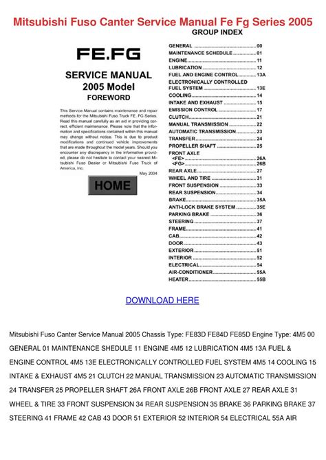 how to download repair manuals 1988 mitsubishi truck electronic valve timing mitsubishi fuso canter service manual fe fg s by lupejensen issuu