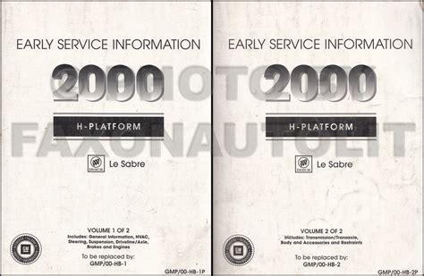 service manuals schematics 2000 buick lesabre auto manual 2000 buick lesabre early shop manual 2 volume set repair service books le sabre ebay