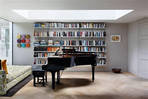 room book shelves modern bookcase grey walls living room design ideas