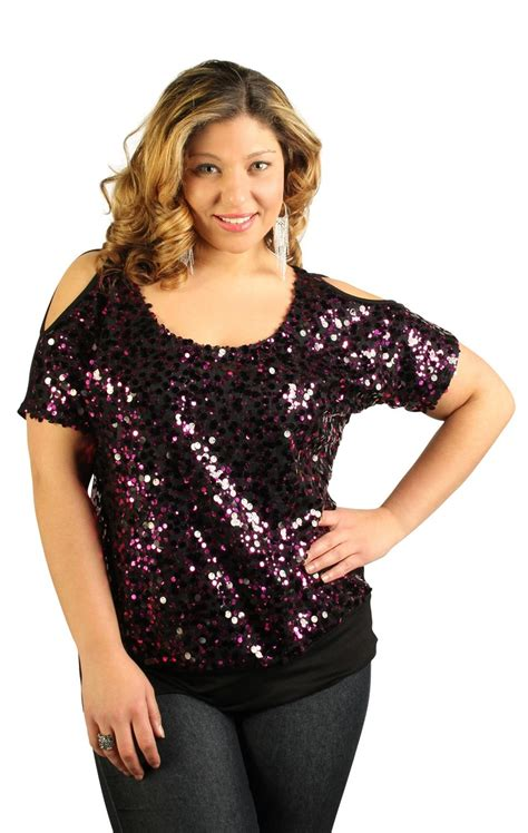beaded evening tops plus size plus size sequin top with cold shoulder my style