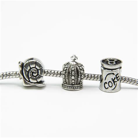 fit pandora bracelet fashion 925 silver crown snail coke european charms