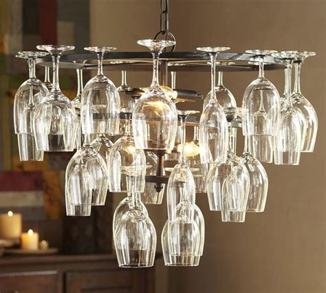how to make a wine glass chandelier wine glass rack chandelier industrial chandeliers by