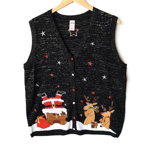 tacky sweater santa s stuck in the chimney tacky sweater