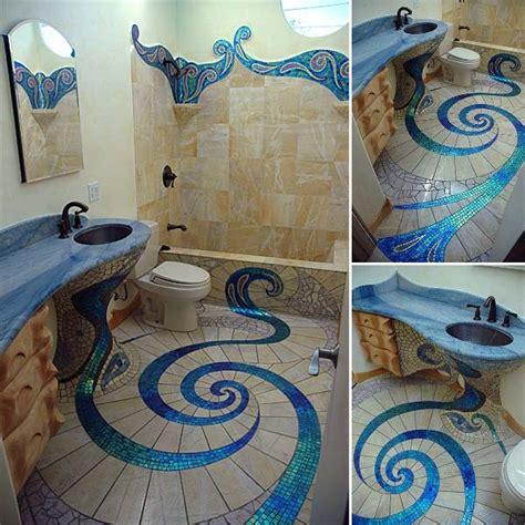 mosaic tiles in bathrooms ideas unique and amazing mosaic bathroom design home design