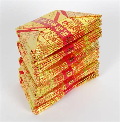 joss paper origami joss paper ingot feng shui new year origami craft