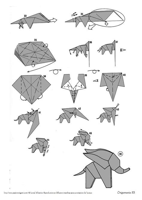 how to fold an origami elephant 25 best ideas about origami elephant on