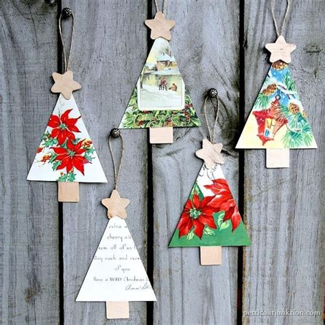 how to make card ornaments how to make ornaments from vintage cards
