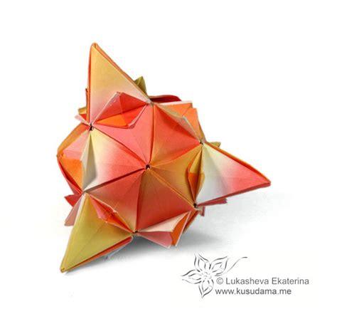 origami spiky kusudama me modular origami spiky sonobe unit