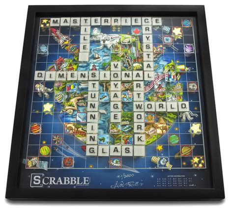 scrabble 3d 3d scrabble world limited edition by charles fazzino