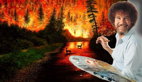 bob ross painting in photoshop bob ross by devilsreject493 on deviantart