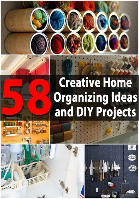 diy and craft projects top 58 most creative home organizing ideas and diy