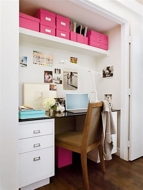 desk in closet how to carve out a home office tile mountain