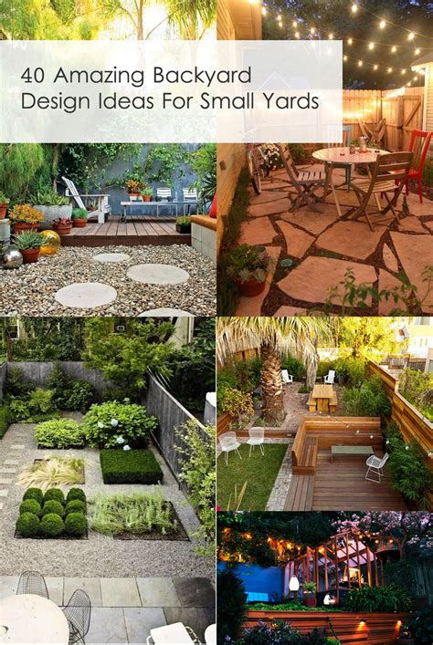 backyard ideas on 40 amazing design ideas for small backyards