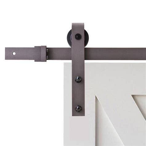 barn door track and hardware calhome 96 in antique bronze classic bent barn