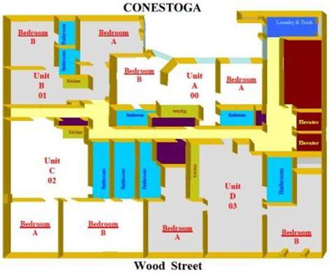 Two Bedroom Loft Floor Plans conestoga hall point park university